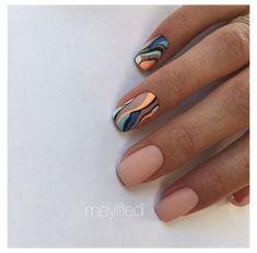Nail Design Glitter, Nail Design Spring, Square Nail Designs, Nail Art Designs, Neutral Nail Designs, Chic Nails, Stylish Nails, Shellac Nails, Nail Manicure