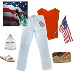 """""""America the beautiful"""" by #bulletblues on Polyvore www.bulletbluesca.com #madeinUSA #jeans"""