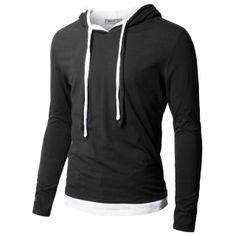 Mens Silket Double String Hood T-Shirt (S2H)