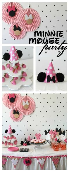 minnie mouse party polka dot a girl and a glue gun