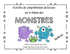 10 Pages of Questions about Monsters! Perfect for a reading unit on the theme of monsters with 30 questions students can be challenged with. Could also be used as a mini-project around literature. All questions are in French, and suitable for a Jr. Reading Comprehension, Jr, Literature, Students, The Unit, French, This Or That Questions, Mini, Reading Comprehension Activities