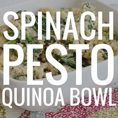 You'll have dinner on the table in no time with this spinach pesto quinoa bowl! You'll have dinner on the table in no time with this spinach pesto quinoa bowl! Quinoa Spinach, Quinoa Bowl, Quinoa Salmon, Clean Eating, Healthy Eating, Cooking Recipes, Healthy Recipes, Keto Recipes, Meal Prep For The Week