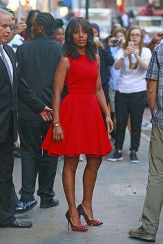 Photos : Kerry Washington Voit Rouge Pour Le Grand Retour De Scandal !