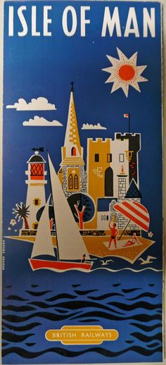 .Isle of Man , Vintage travel poster #beach #seaside #essenzadiriviera www.varaldocosmetica.it/en