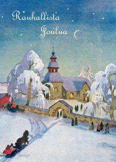 Martta Wendelin Joulu   Osastot   Korttien Talo Holiday Wishes, Beautiful Images, Martini, Ephemera, Painting, Painting Art, Paintings, Painted Canvas, Martinis