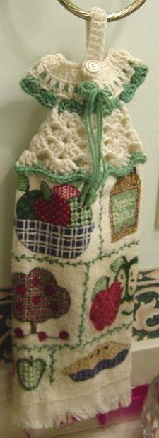 Craft Project: Crocheted Dress Towel Hanger | ThriftyFun