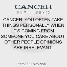 Fact about Cancer: Cancer: You often take things personally when it's... #cancer, #cancerfact, #zodiac. More info here: https://www.horozo.com/blog/cancer-you-often-take-things-personally-when-its/ Astrology dating site: https://www.horozo.com