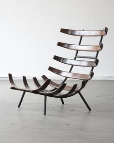 "Rare lounge chair by Carlo Hauner and Martin Eisler Brazil 1955 Rare jacaranda lounge chair. Designed by Carlo Hauner and Martin Eisler for Forma, Brazil, circa 1955. (seat height: 8.5"")"