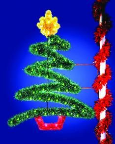 z tree pole mounted 4 12 x 7 1 - Christmas Pole Decorations