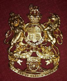 Royal Artillery Victorian Officers Gilt Helmet Plate