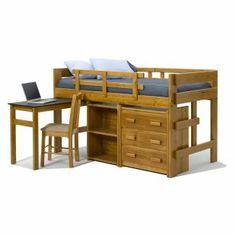 Bunkbed/desk/dresser/bookshelf combo = win.