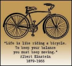 You must keep moving...