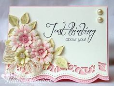 I adore this card. Simple diecutting but such a stunning card with the beautiful floral arrangement.