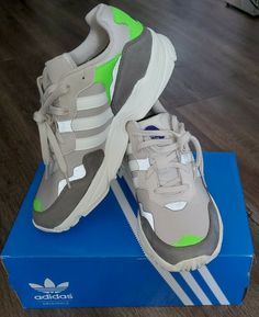 New. Adidas Original Yung-96 F97182 Clear Brown/Sail/Solar Green Size 10.5 #adidas #RunningShoes #Casual
