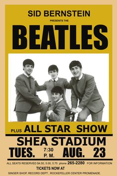 The Beatles concert poster, 1966.