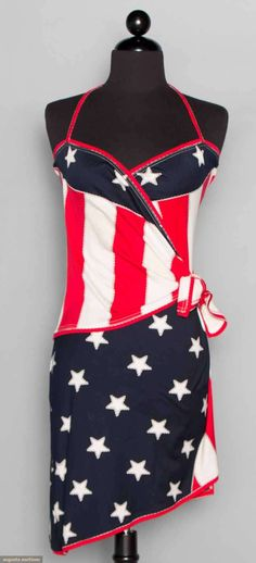 Leonard Nautical Dress, Paris, 1970s, Augusta Auctions, November 12, 2014