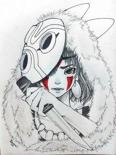 Princesse Mononoké ~ par Teppei Chan <3