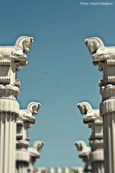 Persepolis Iran by Arash Zolfaghari on Ancient Near East, Ancient Ruins, Ancient Art, Ancient History, Persian Architecture, Cultural Architecture, Art And Architecture, Ancient Mesopotamia, Ancient Civilizations