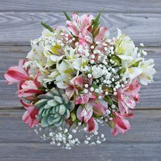 A modern bouquet with fresh desert vibes! Eco-friendly alstroemeria, succulents and accents from sustainable farms. Send flowers to your loved one today! Online Flower Delivery, Flower Delivery Service, Floral Wedding, Wedding Flowers, Wedding Stuff, Local Florist, Floral Style, Spring Wedding, Floral Arrangements