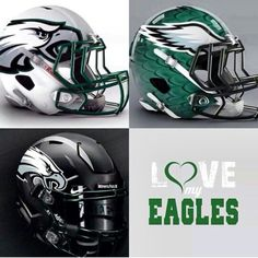 Some cool alternative Eagles helmet ideas. Philadelphia Eagles Super Bowl, Philadelphia Eagles Merchandise, Nfl Philadelphia Eagles, Football Memes, American Football, Football Team, Watch Football, Football Season, Go Eagles