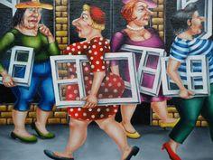 """Saatchi Art Artist: Elena Kourenkova; Oil 2011 Painting """"Window Shopping-SOLD"""""""