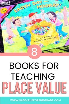 Practicing place value activities with your students? Check out these 8 books PERFECT for teaching place value concepts to primary students! Click the pin to learn which books to grab to support your students math knowledge!