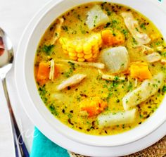 Caribbean Chicken Soup what's a white sw. tato? Or wiri pepper?