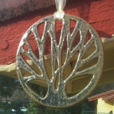 Purpley Tree of Life Cut Out Ceramic Ornament  by JillyBeanPottery, $15.00