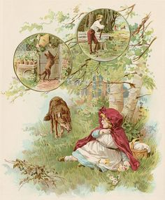 Little Red riding Hood -1890's era illustrations,shared by sofi01, via Flickr