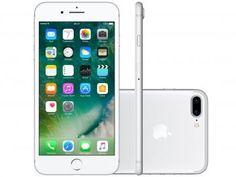 "iPhone 7 Plus Apple 128GB Prateado 4G 5,5"" Retina - Câm. 12MP + Selfie 7MP iOS 10 Proc. Chip A10"