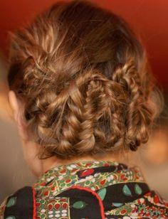 pinned up braids