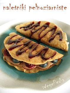 wegańskie naleśniki pełnoziarniste Vegan Sweets, Vegan Food, Nutella, Recipies, Tacos, Vegan Recipes, Mexican, Breakfast, Healthy