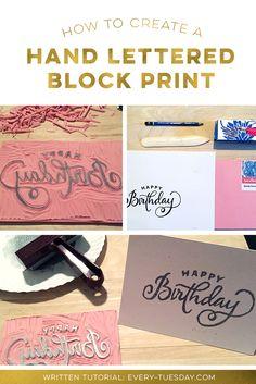How to Create a Hand Lettered Block Print