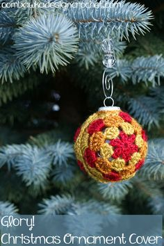 Free Pattern Glory Ornament Cover @OombawkaDesign - with some important pictures too...