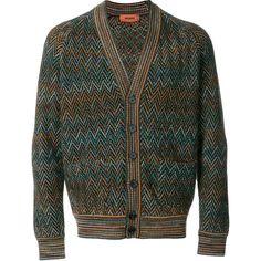 Missoni chevron pattern cardigan (102.640 RUB) ❤ liked on Polyvore featuring men's fashion, men's clothing, men's sweaters, mens colorful sweaters, mens cardigan sweaters and missoni mens sweater