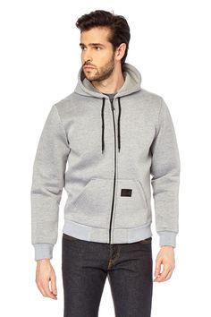 Venda Moda homem / 29171 / Harrington / Pronto-a-vestir / Sweat com fecho zip Cinzento mesclado