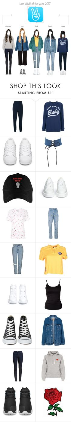 """""""Last VLIVE of the year 2017"""" by spicegirls-official ❤ liked on Polyvore featuring Zoe Karssen, adidas Originals, Robert Clergerie, Topshop, Tommy Hilfiger, Gosha Rubchinskiy, Alexander McQueen, ONLY, Converse and Pull&Bear"""