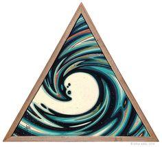 """Liquid Space Time Vortex © Erik Abel 2014 Acrylic, marker, colored pencil on wood. Weather Art, Original Artwork, Original Paintings, Arte Tribal, Time Painting, Framed Canvas Prints, Tropical Art, Surf Art, Ocean Art"