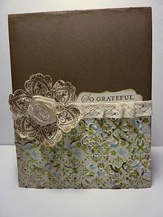 antiqued mixed bunch card
