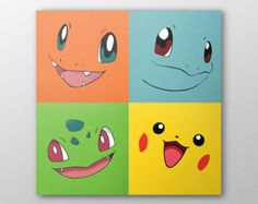 Pokemon Mini Canvas Set by TheMistyMountain on Etsy
