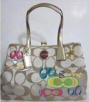 Coach Signature Applique Framed Carryall F17575 Handbag: From #Coach