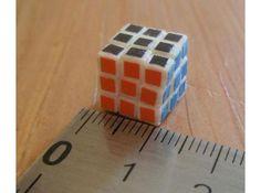 Tiny Rubik's Cube 3D model at Shapeways.