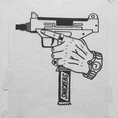 Illustration - illustration - DIET I will be Feb. Gangster Tattoos, Dope Tattoos, Small Tattoos, Tattoos For Guys, Tattoo Design Drawings, Tattoo Sketches, Art Sketches, Tattoo Designs, Kritzelei Tattoo