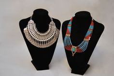 Turkish Silver and Zulu necklaces, perfect for accentuating outfits.
