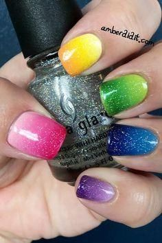 Shimmering Ombre Nails