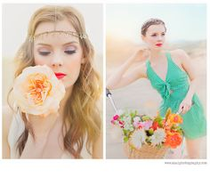 inspiration - flowers, lips, and headbands!