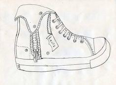 Converse shoe lineart by Conversefan10.deviantart.com on