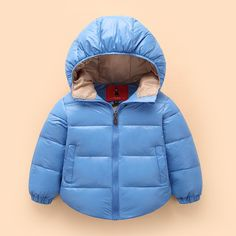 17.63$  Watch now - http://aliza9.shopchina.info/go.php?t=32754338024 - Child Down a short section of thick hooded jacket male and female baby child student dress winter  #magazineonline