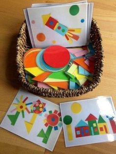 Teaching shapes to kindergarten is part of many standards based curriculums. I wanted to share creative ways for teaching shapes in kindergarten. 2d Shapes Activities, Teaching Shapes, Toddler Activities, Preschool Activities, Toddler Fun, Preschool Shapes, Writing Activities, 2d Shape Games, Preschool Crafts