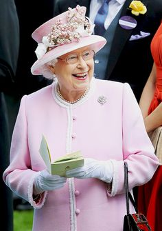 "royalwatcher: "" Queen Elizabeth II on Day 2 of Royal Ascot at Ascot Racecourse on June 15, 2016. """